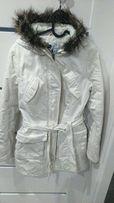 Biała kurtka zimowa Ravel