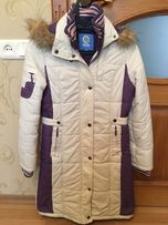 Пальто зимнее с капюшоном подростковое quadri foglio пуховик