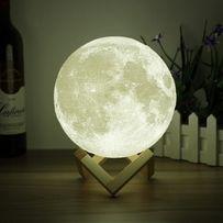 3D лампа,светильник,ночник на сенсорном управлении с рельефом Луны15см
