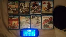 PS Vita & 9 gamew