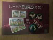 Gra 2 w 1 domino memory karty memos gry piłkarze Euro 2012 UEFA nowa