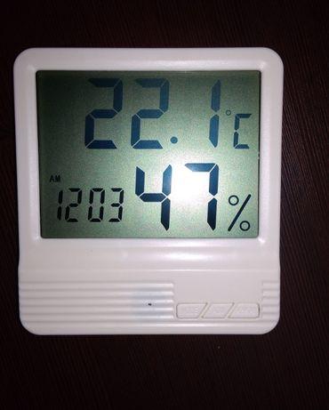 Гигрометр термометр часы. измеритель влажности