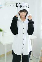 Пижама женская кигуруми панда черно-белая