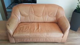Sofa wypoczynek kanapa skóra naturalna