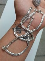 łańcuszek srebrny płaski 925 50cm możliwa zamiana