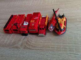 Straż pożarna - zestaw - samochód, helikopter, motorówka - 7 pojazdów