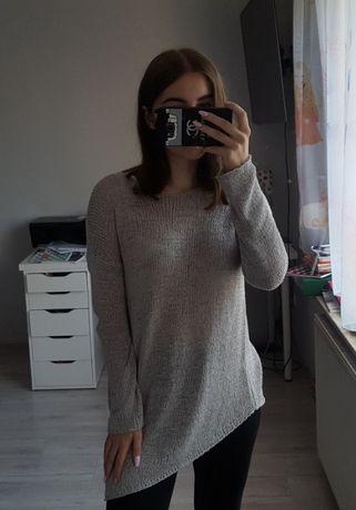 Asymentryczny szary sweter oversize H&M Białe Błota - image 1