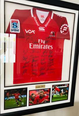 Lions Rugby Finals Team 2017 Signed Jersey