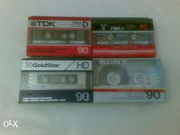 Кассеты / Аудиокассеты SONY HF90 Japan.GOLDSTAR HD 90. См.фото.
