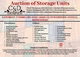 Auction of Storage Units
