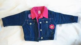 Jeans - bluza (3 - 6 m-cy), 2 x spodnie (r. 74) + inne ubranka