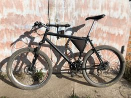 Велосипед рама 21'', xt, novatec, rock shox,sub zero,sr suntour