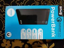 Snug 12000mAh Qualcomm Quick Charge 3.0 Powerbank LCD Display Black
