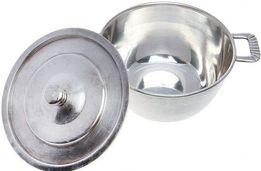 Кастрюля 1,5л мельхиор, серебрение 50-е годы прошлого века-ВИНТАЖ