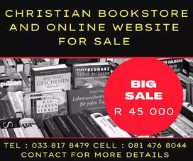 CHRISTIAN BOOKSTORE AND ONLINE STORE FOR SALE !