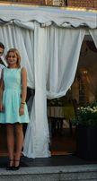 Piękna elegancka miętowa sukienka rozmiar S