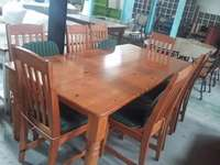 Image of Pine dining room table + Chairs