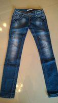 Spodnie jeansy przecierane rozm.27