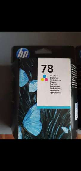 Brand new HP ink cartridges colour and black
