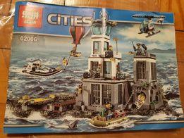 Duzy zestaw wiezienie więzienie z klocków jak Lego posterunek policji