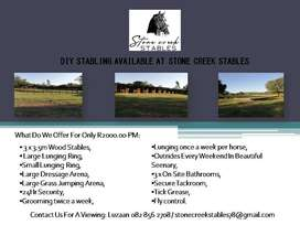 DIY Stables Available At Stone Creek Stables