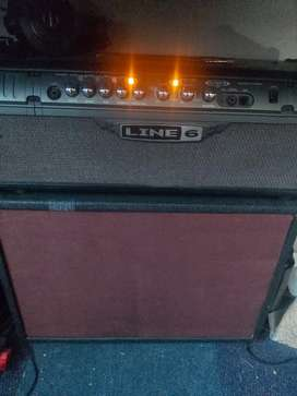 Line 6 Spider 3 75 HD + 2x12 cab loaded with Laney HH drivers