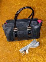 Жіноча шкіряна чорна сумка Clarks