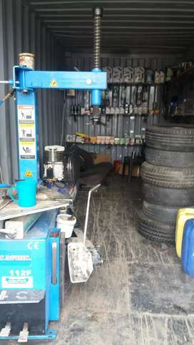 Tyre workshop and spars   MATAFFIN