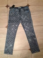 Модные женские джинсы с пайетками