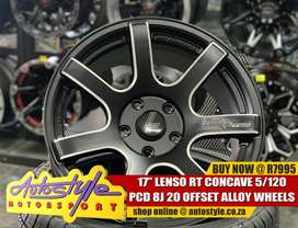 17inch Lenso Opus 3 4-100 8j front and back R6495  Autostyle Motorspor