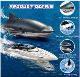 2.4GHz 2 IN 1 Remote Control Waterproof Shark Speed Boat RC Boat