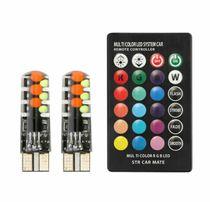 Led RGB w5w, T10, габариты разноцветные, стробоскоп