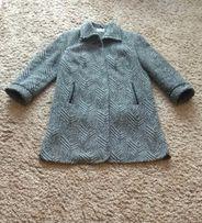Płaszcz wełniany szary 48 50 XXXL