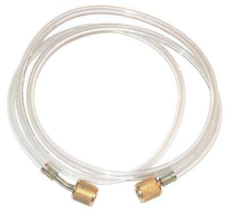 Air Conditioning Charging Hose Clear Gold