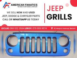 Second Hand Blue Jeep Grill for sale!