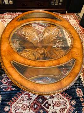 Solid Wood Hand Carved Coffee Table