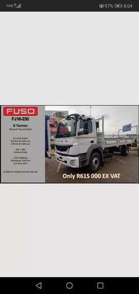 Fuso FJ16-230, 8 tonner with 7.2m dropside. Contact me for more info