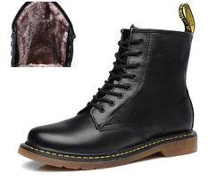 Мужские зимние ботинки dr.Martens 1460 black с мехом