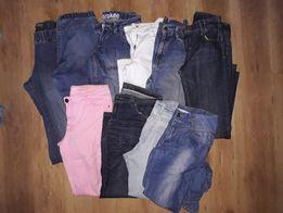 spodnie/zestaw spodni jeans roz M