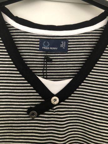 T-shirt Fred Perry rozm. XL w paski Kęty - image 4