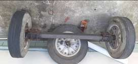 used trailer axel with 3 rims
