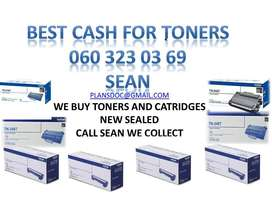 INTIME WE COLLECT NEW TONERS AND CATRIDGES