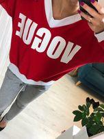 bluza czerwona nowa vogue polski produkt rozmiar uniwersalny czerwona