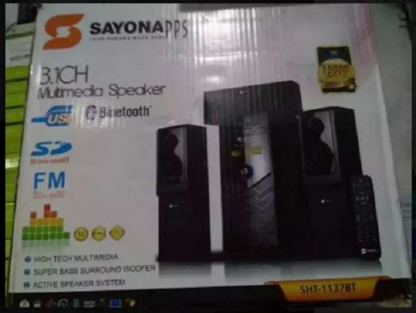 Sayona SHT-1130-BT Bluetooth Multimedia Speakers 0