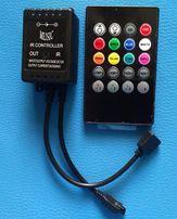 Цветомузыкальный RGB контроллер с микрофоном и ИК-пультом