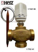 Трехходовой клапан распределительный с термоголовкой Herz Для отпления