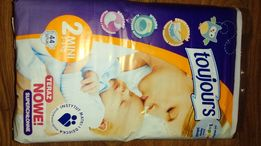 Pampersy Toujours 44szt. +Pampers active baby dry r.2