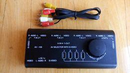"""Разветвитель """"тюльпан"""" AV RCA на 4 порта RCA+2 порта SVideo+кабель"""