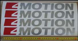 VW 4 MOTION rear side decals stickers