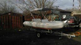 Продам лодку резиновую новая лебетка и новый мотор Меркурий25 морской
